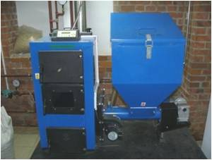 furnace for biomass pellets combustion